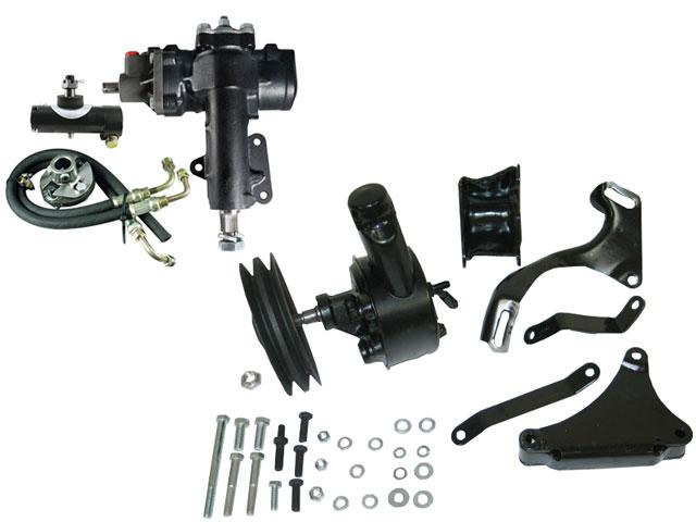 corvette power steering gear box with manual steering add