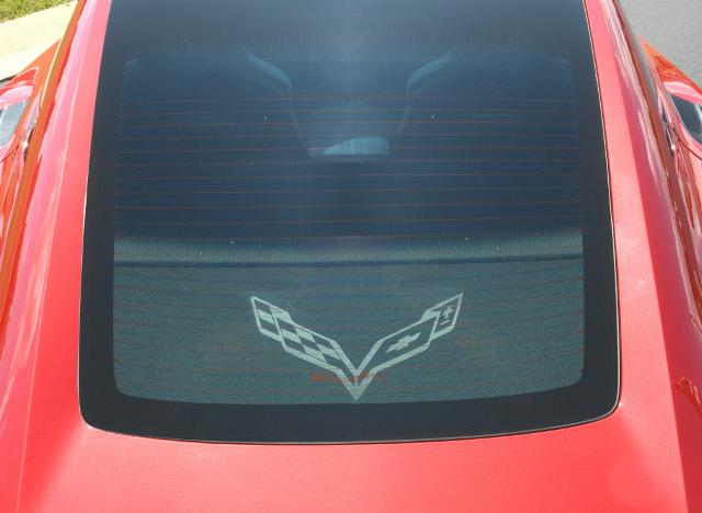 Corvette Rear Window Cargo Shade Luggage Cover Upper
