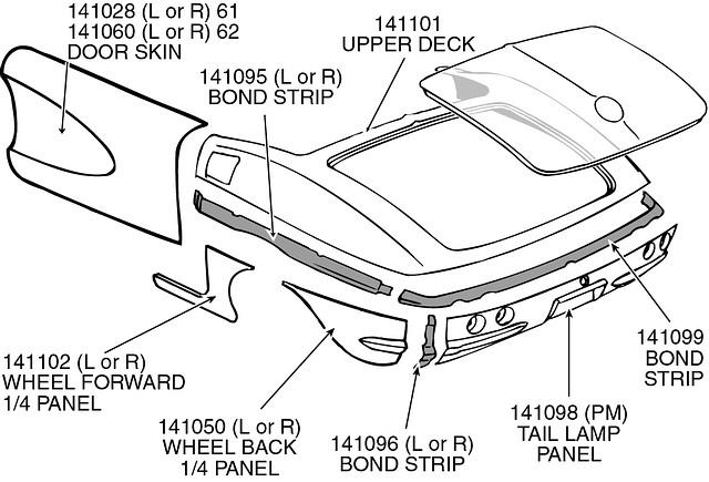 C1 Corvette Parts (1953-1962)