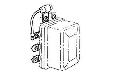 Corvette Voltage Regulator Radio Capacitor With Bracket