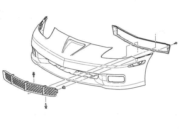 corvette grille retainer    bracket   zr1    grand