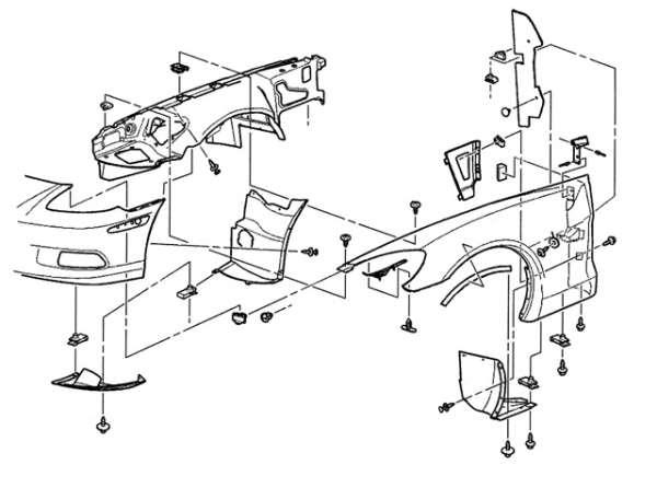 Corvette Front Center / Upper Wheel Well Inner Fender