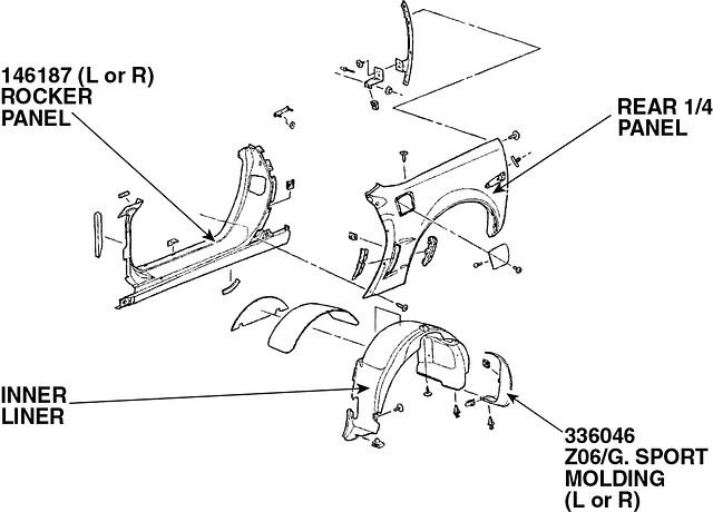 corvette rear wheel opening moulding   grand sport